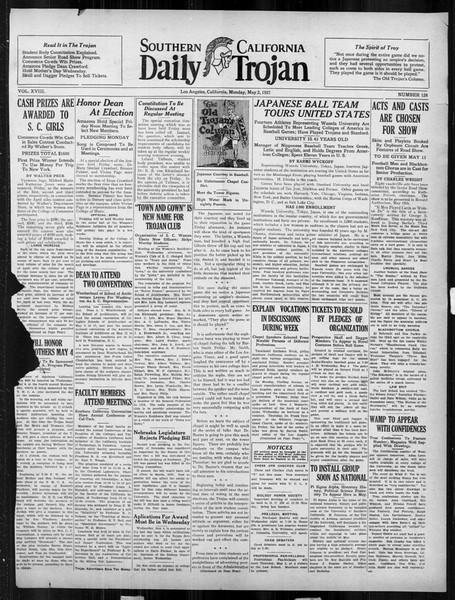 Daily Trojan, Vol. 18, No. 128, May 02, 1927