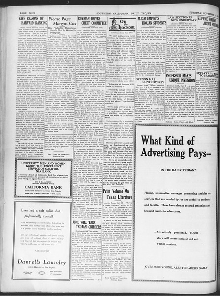 Daily Trojan, Vol. 20, No. 42, November 13, 1928