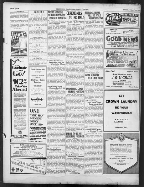 Daily Trojan, Vol. 19, No. 144, May 29, 1928