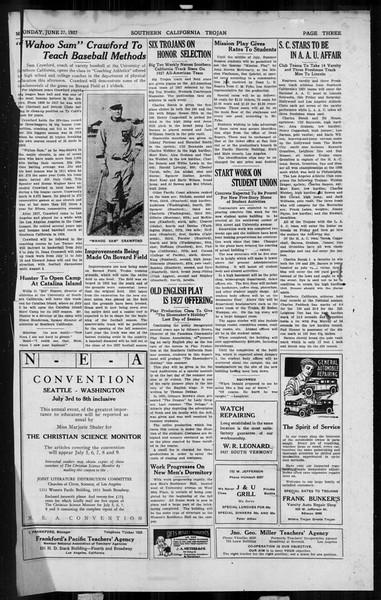 The Southern California Trojan, Vol. 6, No. 1, May 27, 1927