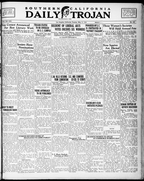 Southern California Daily Trojan, Vol. 21, No. 137, May 13, 1930