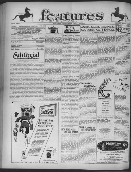 Daily Trojan, Vol. 20, No. 105, March 15, 1929