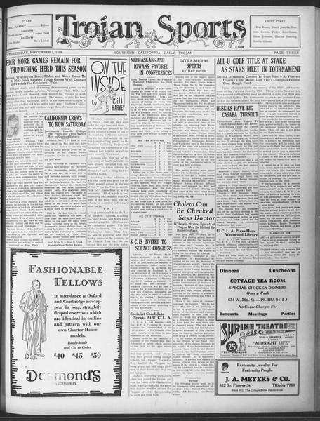 Daily Trojan, Vol. 20, No. 39, November 07, 1928