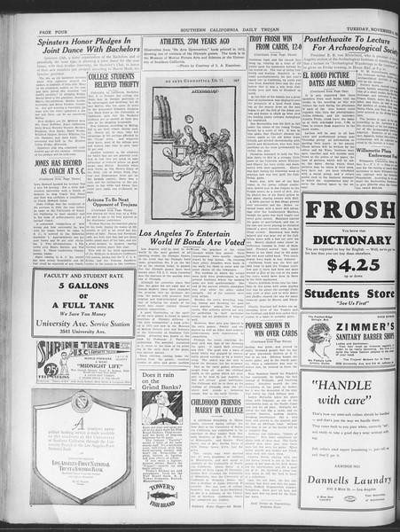 Daily Trojan, Vol. 20, No. 38, November 06, 1928