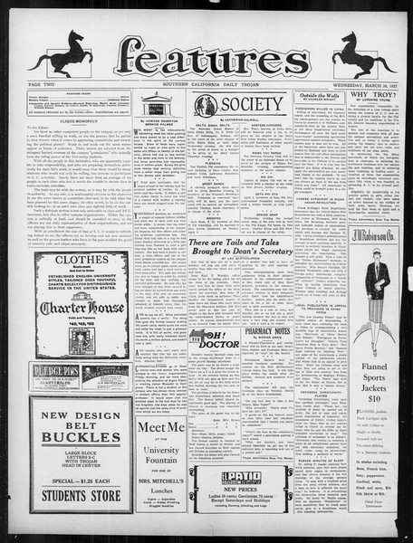 Daily Trojan, Vol. 18, No. 112, March 30, 1927
