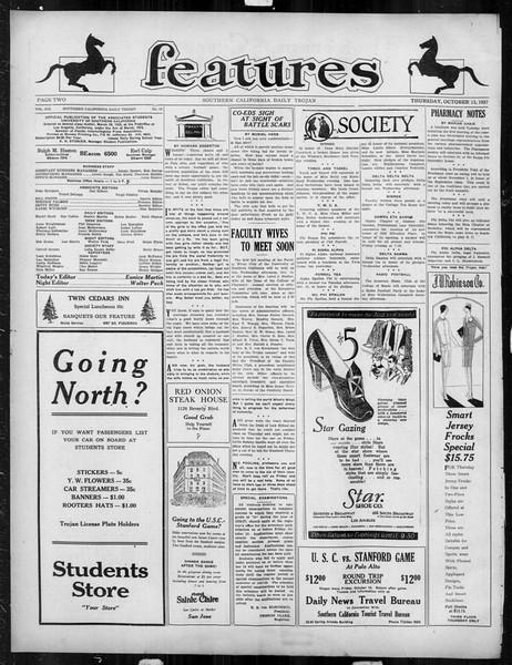 Daily Trojan, Vol. 19, No. 19, October 13, 1927
