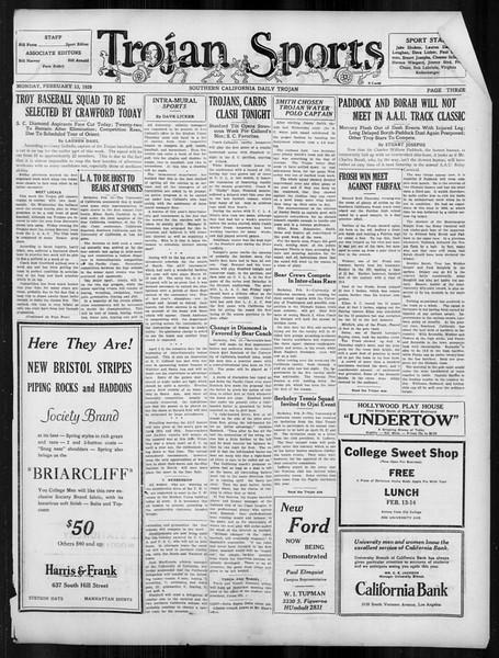 Daily Trojan, Vol. 19, No. 77, February 13, 1928