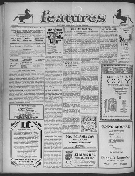 Daily Trojan, Vol. 20, No. 135, May 07, 1929