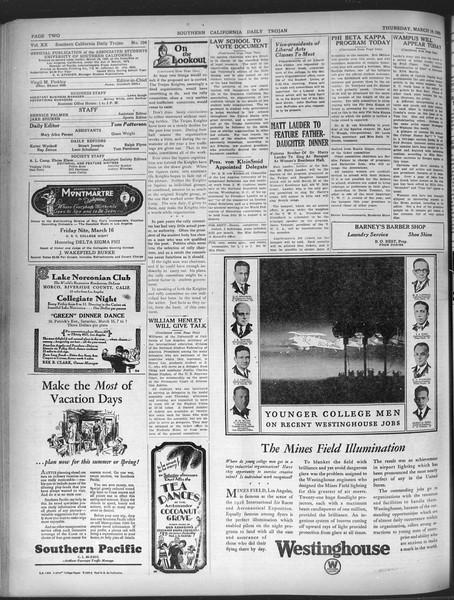 Daily Trojan, Vol. 20, No. 104, March 14, 1929