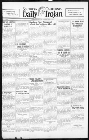 Daily Trojan, Vol. 16, No. 62, March 05, 1925
