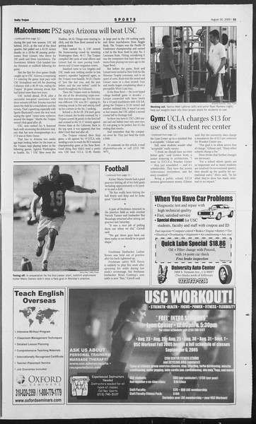 Daily Trojan, Vol. 156, No. 7, August 30, 2005