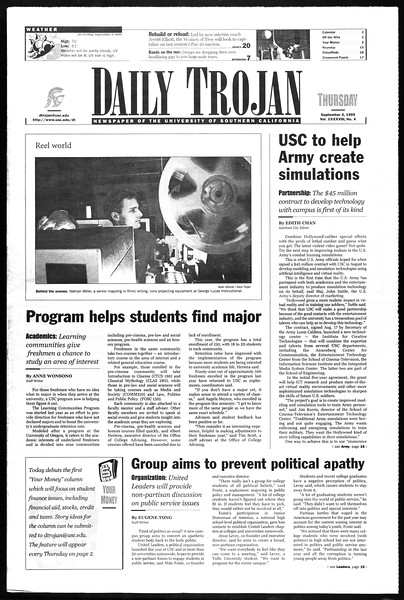 Daily Trojan, Vol. 138, No. 4, September 02, 1999