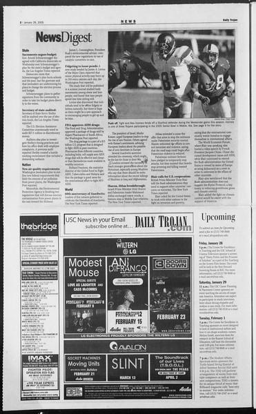 Daily Trojan, Vol. 154, No. 12, January 28, 2005