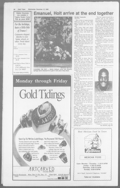 Daily Trojan, Vol. 110, No. 68, December 13, 1989