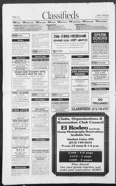 Daily Trojan, Vol. 156, No. 52, November 03, 2005