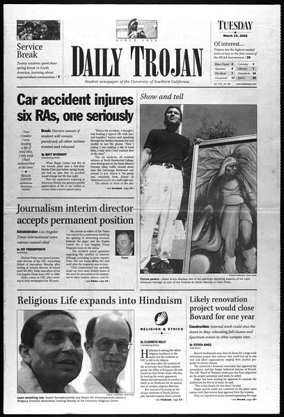 Daily Trojan, Vol. 145, No. 40, March 19, 2002