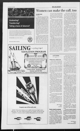 Daily Trojan, Vol. 154, No. 44, March 28, 2005