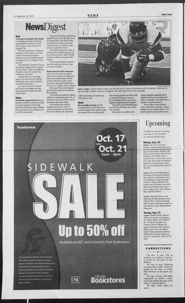 Daily Trojan, Vol. 156, No. 24, September 26, 2005