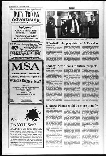 Daily Trojan, Vol. 138, No. 14, September 20, 1999
