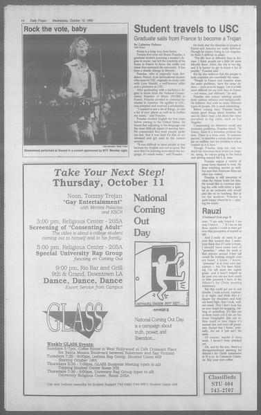 Daily Trojan, Vol. 113, No. 27, October 10, 1990