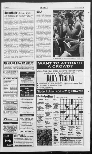 Daily Trojan, Vol. 154, No. 30, February 25, 2005