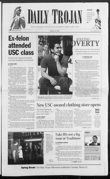 Daily Trojan, Vol. 154, No. 39, March 10, 2005