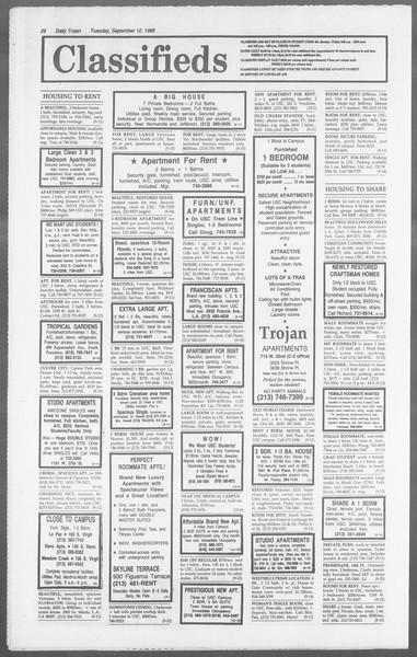 Daily Trojan, Vol. 110, No. 6, September 12, 1989