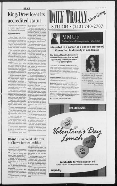 Daily Trojan, Vol. 154, No. 21, February 10, 2005