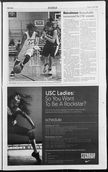 Daily Trojan, Vol. 154, No. 14, February 01, 2005