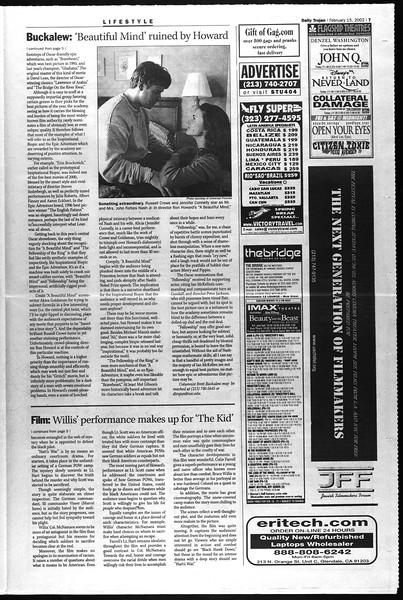 Daily Trojan, Vol. 145, No. 27, February 15, 2002