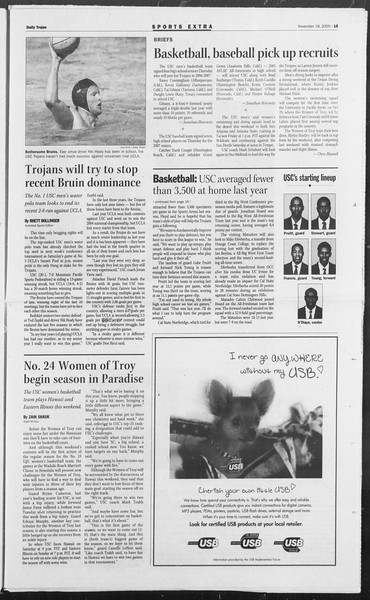 Daily Trojan, Vol. 156, No. 62, November 18, 2005