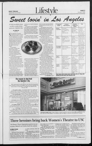 Daily Trojan, Vol. 154, No. 22, February 11, 2005