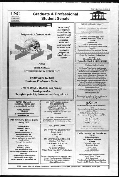 Daily Trojan, Vol. 145, No. 41, March 20, 2002