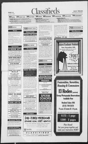 Daily Trojan, Vol. 156, No. 49, October 31, 2005
