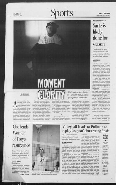 Daily Trojan, Vol. 156, No. 37, October 13, 2005