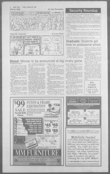 Daily Trojan, Vol. 113, No. 38, October 26, 1990