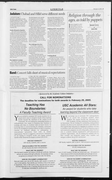 Daily Trojan, Vol. 154, No. 20, February 09, 2005