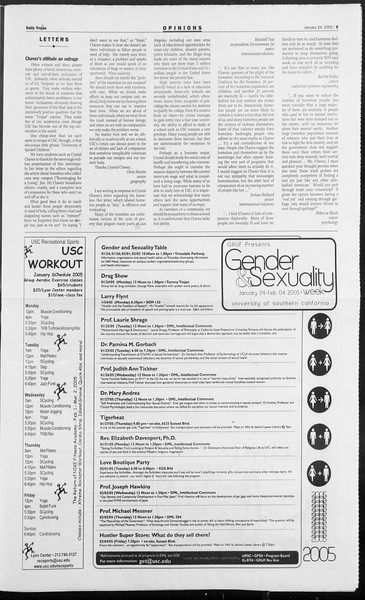 Daily Trojan, Vol. 154, No. 8, January 24, 2005