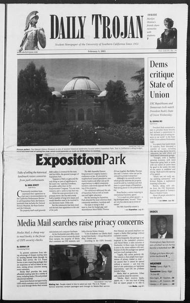 Daily Trojan, Vol. 154, No. 16, February 03, 2005
