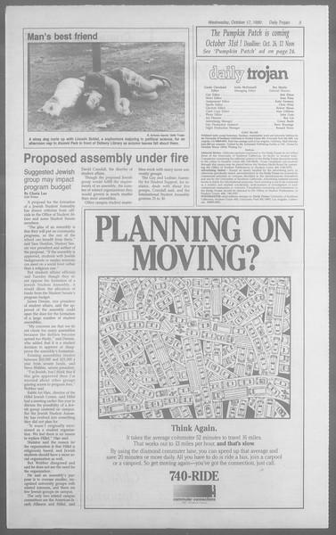 Daily Trojan, Vol. 113, No. 31, October 17, 1990