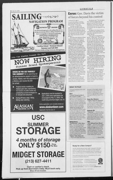 Daily Trojan, Vol. 154, No. 60, April 19, 2005