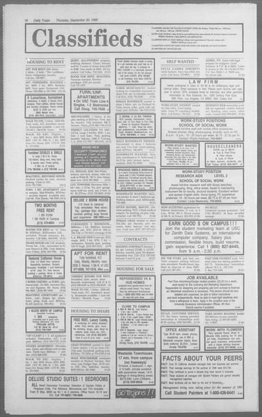 Daily Trojan, Vol. 113, No. 13, September 20, 1990