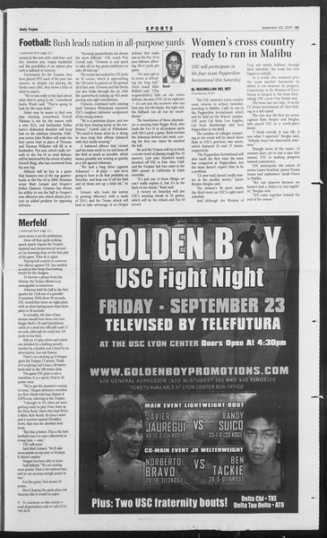 Daily Trojan, Vol. 156, No. 23, September 23, 2005