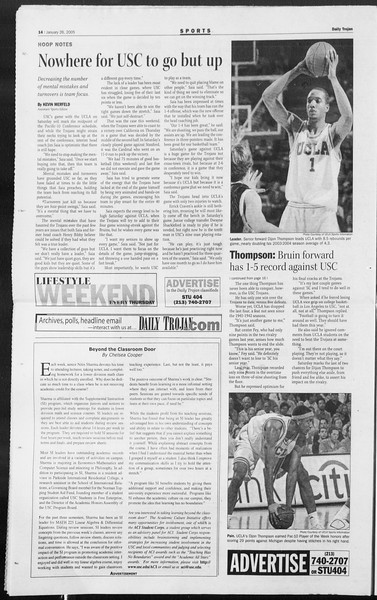 Daily Trojan, Vol. 154, No. 10, January 26, 2005