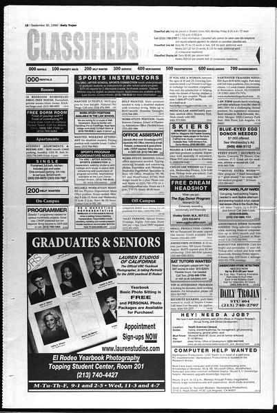 Daily Trojan, Vol. 138, No. 22, September 30, 1999