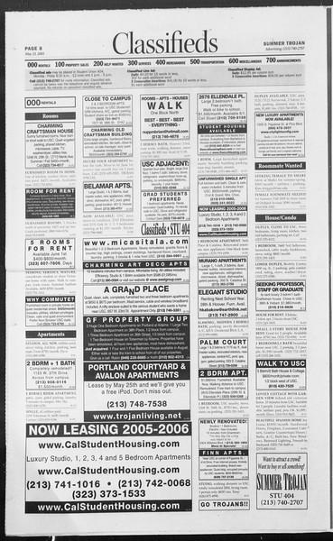 Summer Trojan, Vol. 155, No. 2, May 25, 2005