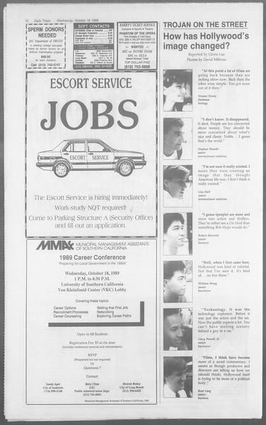 Daily Trojan, Vol. 110, No. 31, October 18, 1989