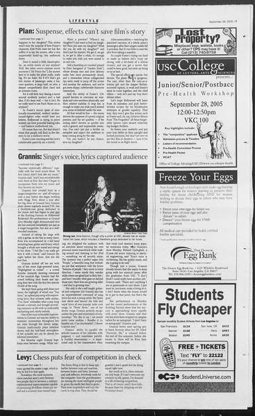 Daily Trojan, Vol. 156, No. 26, September 28, 2005