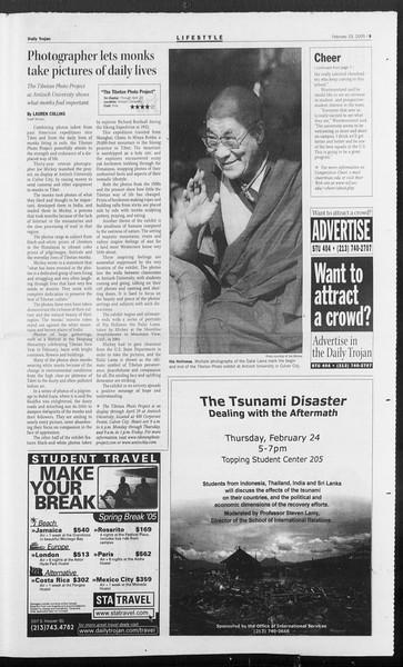 Daily Trojan, Vol. 154, No. 28, February 23, 2005