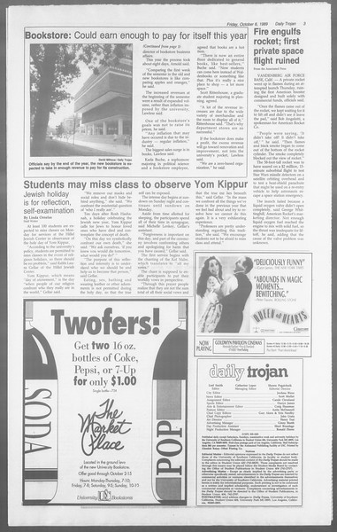 Daily Trojan, Vol. 110, No. 24, October 06, 1989